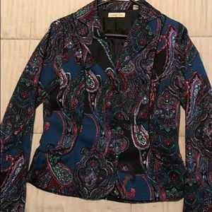 Coldwater Creek Blue Paisley Blazer